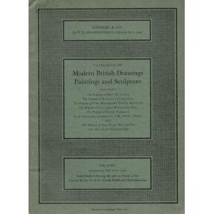 Catalogue of Modern British Drawings Paintings and Sculpture