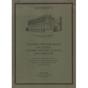Valuable Printed Books including Natural History, Science and Medicine
